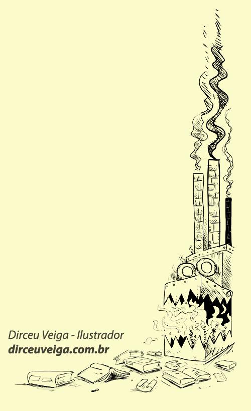 Ilustracao infantil preto e branco